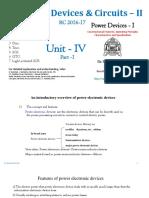 EDC-II Unit-4 Part 1 SCR, Diac, Triac, SCS, GTO, & LASCR