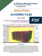 SANSPRO V520 Release Notes 2020