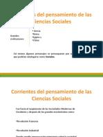 CIENCIAS SOCIALES CORRIENTES DEL PENS.