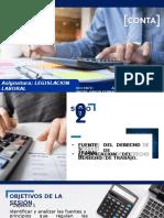 SESION 2 - FUENTES Y PRINCIPIOS DEL DERECHO DE TRABAJO -  CLASIFICACION