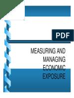 Managing & Measuring Economic Exposure