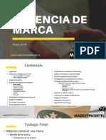 Cátedra Gerencia de Marca Primer semestre 2019
