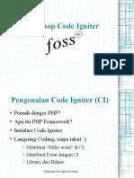 Pengenalan CI for FOSSIL