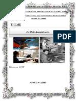 Memoire De Fin De Formation ATP