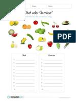 Arbeitsblatt Obst Und Gemuese Unterscheiden