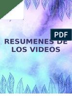 RESUMENES DE LOS VIDEOS