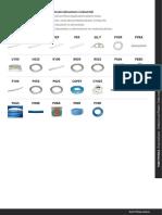 Tubos industriales y alimentarios en material plástico - inglés - español - aleman - italiano - francés