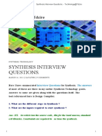 Synthesis Interview Questions. - Technology@Tdzire