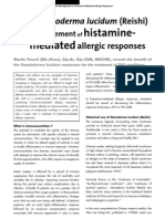 The Use of Ganoderma Lucidum in the Management Od Histamine-mediated Allergic Responses