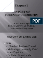 CHAPTER I. HISTORY OF FORENSIC CHEMISTRY