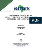 Handbook Mosquito Net Testing v2.0 November 5 2004