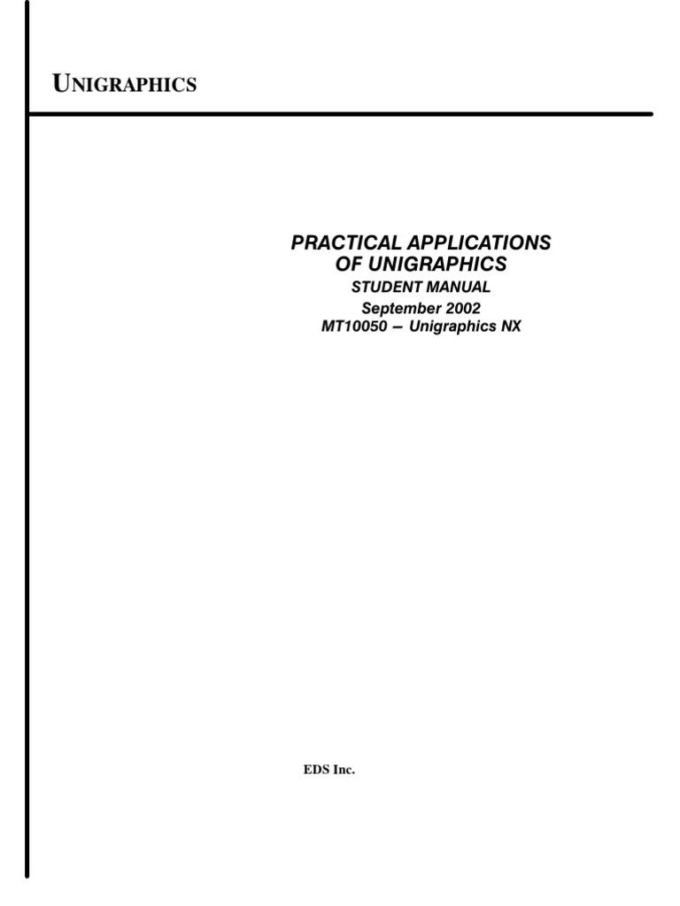 unigraphics nx student manual perpendicular proprietary software rh scribd com
