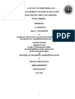 A STUDY ON PERFORMANCE MANAGEMENT SYSTEM IN MANATEC ELECTRONIC PRIVATE LIMITED