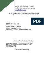 _Business_Plan_of_Leather_Products_GlemKore International (opc)pvt ltd ,SBI