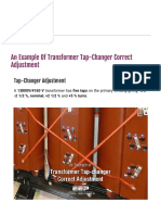 An Example of Transformer Tap-changer Correct Adjustment