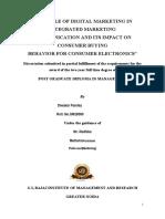 Diwakar Pandey Dissertation Report