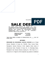 Sale Deed of Lease Hold Rights