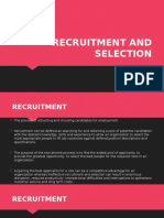 1st lectureRECRUITMENT AND SELECTION
