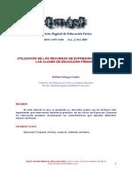 Utilización de Los Recursos de Expresión Corporal en Clase de Educación Primaria.