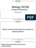 Flashcards - Topic 4 Biological Molecules - CIE Biology IGCSE