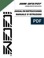 Manual Instrucciones Pedalera ZOOM GFX707