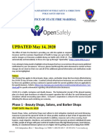 Salons or Barbers - OPENSAFE Phase 1