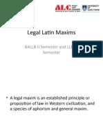 Legal Latin Maxims