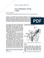 Electrodiagnostic confirmation of long