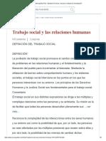 trabajo social y relaciones humanas