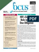 HR Due Diligence. Best Practices