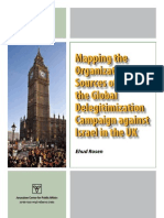 Mapping the Deligitimization of Israel