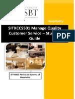 SITXCCS501
