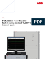Disturbance recording and fault locating device DRL6600U product guide 4CAE000359 Rev-