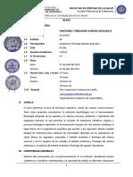 ANATOMÍA Y FISIOLOGÍA APLICADA II