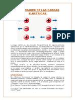 PROPIEDADES DE LAS CARGAS ELECTRICAS (1)