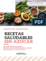 Libro de recetas saludables sin azúcar