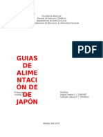 Guías de Alimentación en Japón