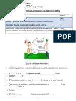 Guía de trabajo de Matemáticas 8° básico