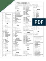 calendar INDIA 2012-2013