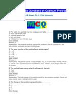 MCQ Quantum Physics
