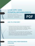 PPT KELOMPOK 9 - SYNCOPE DAN PENATALAKSANAAN SYNCOPE