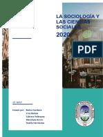 SOCIOLOGIA Y LAS CIENCIAS SOCIALES (1)