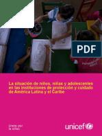 UNICEF - La Situación de NNA en Instituciones en LAC