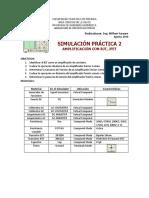 Simulacion Practica 2 Amplificaicon con BJT y JFET
