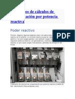 cálculos de compensación por potencia reactiva