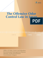 The Offensive Odor Control Law in Japan