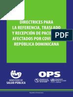 Directrices para la referencia traslado y recepcion de pacientes afectados por COVID-19