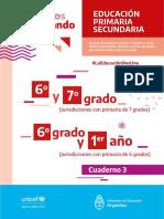 Ministerio de Educación PRIMARIA 6to-7mo Cuadernillo 3