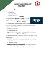 ETICA Y VALORES 5° ACTIVIDAD 3,4,5