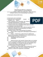 - Fase 2 - Revisar enfoques teóricos de la Antropología Psicológica
